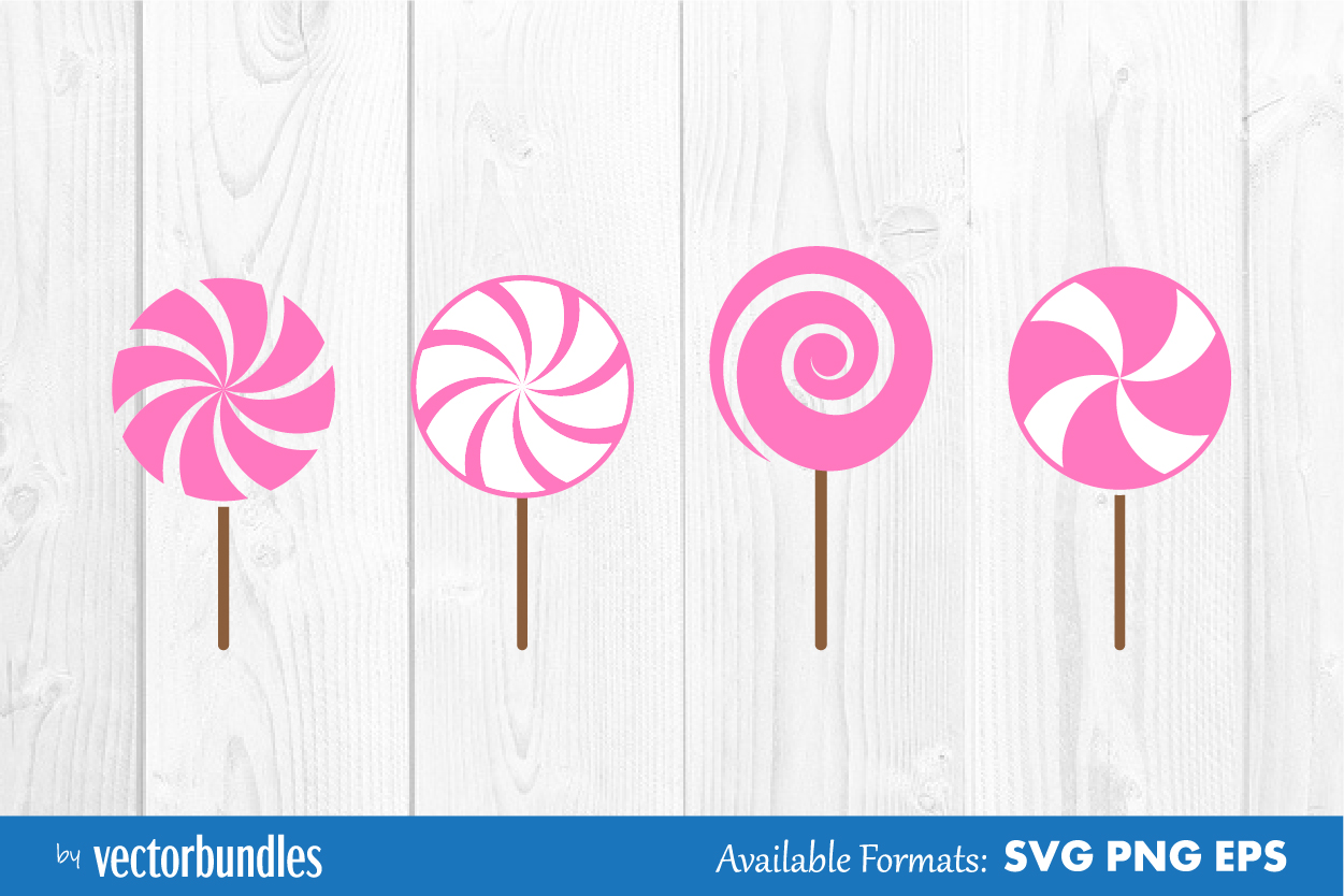 Download Free Lollipop Candy Clip Art Graphic By Vectorbundles Creative Fabrica for Cricut Explore, Silhouette and other cutting machines.