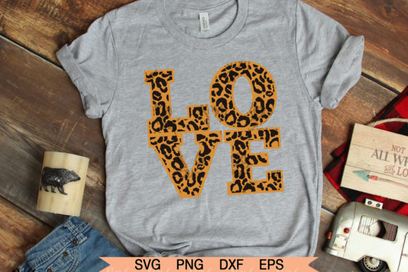 Download Free Love Leopard Valentines Day Graphic By Roxysvg26 Creative Fabrica SVG Cut Files