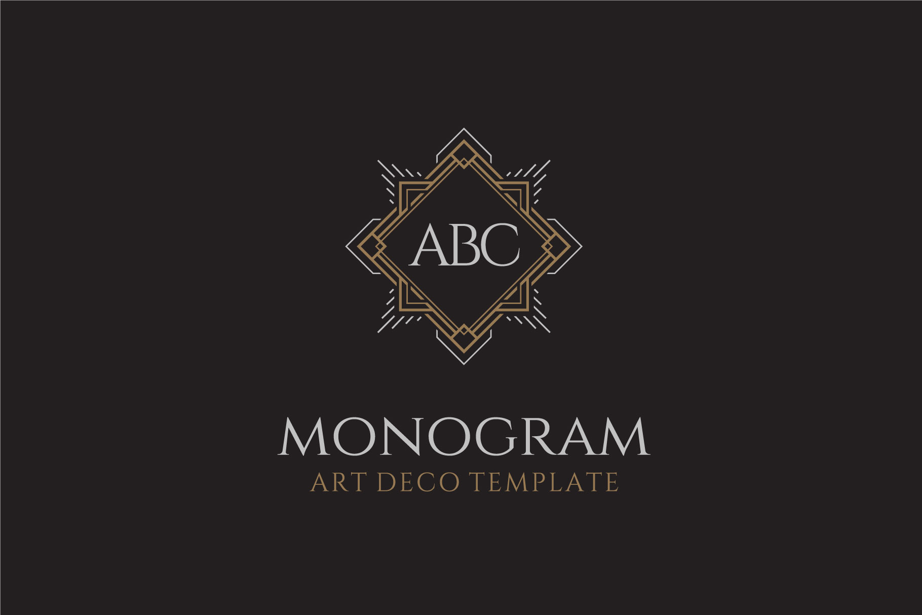 Download Free Luxury Art Deco Vintage Monogram Logo Graphic By Enola99d for Cricut Explore, Silhouette and other cutting machines.