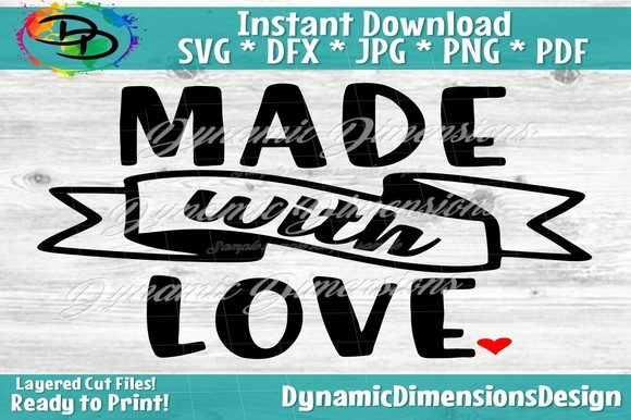 Print on Demand: Made with Love, Valentine's Day Graphic Crafts By dynamicdimensions