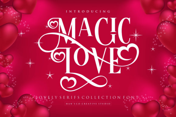 Print on Demand: Magic Love Serif Font By HansCo