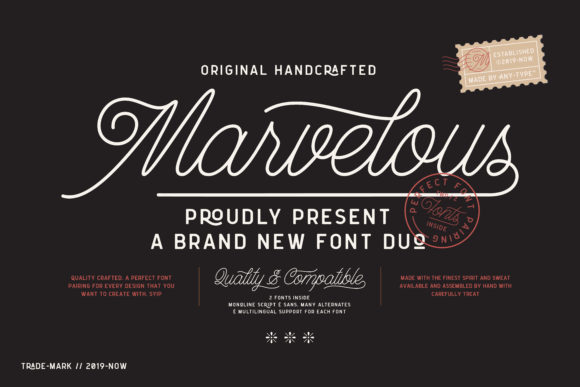 Print on Demand: Marvelous Display Font By Anytype