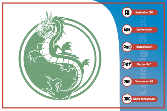Print on Demand: Mascot Character Dragon Design Graphic Icons By leamsign