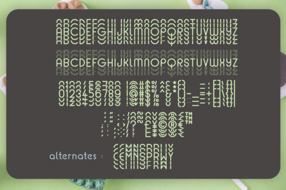 Print on Demand: Mint Round Display Font By Dasagani - Image 3