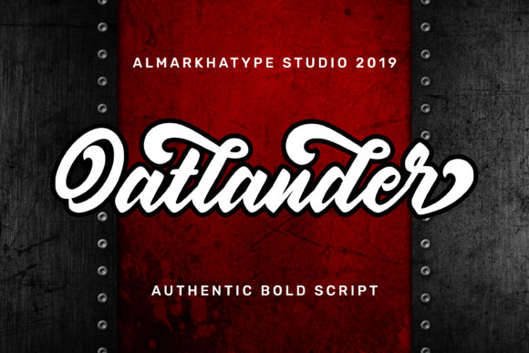 Print on Demand: Oatlander Script & Handwritten Font By almarkhatype