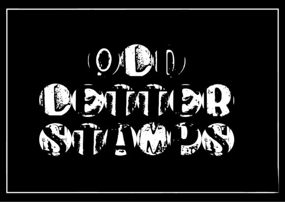 Print on Demand: Old Letter Stamps Display Font By GraphicsBam Fonts
