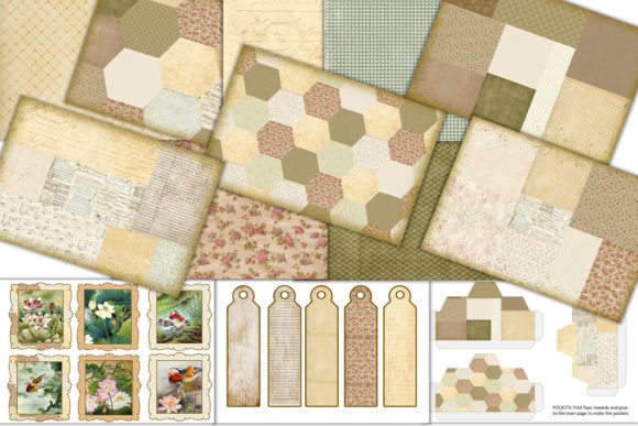 Print on Demand: Patchwork Backgrounds, Ephemera Graphic Crafts By The Paper Princess