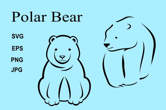 Download Free Polar Bear Outline Graphic By Artbyliz Creative Fabrica for Cricut Explore, Silhouette and other cutting machines.