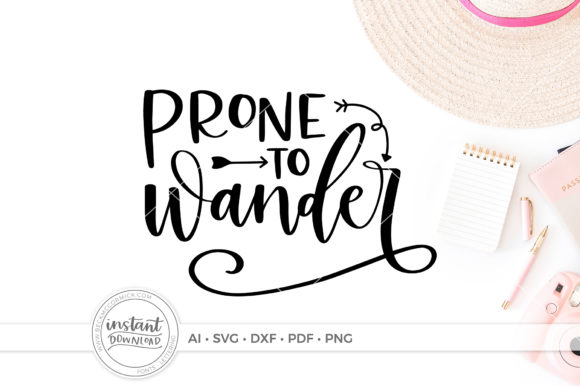 Download Free Prone To Wander Graphic By Beckmccormick Creative Fabrica for Cricut Explore, Silhouette and other cutting machines.