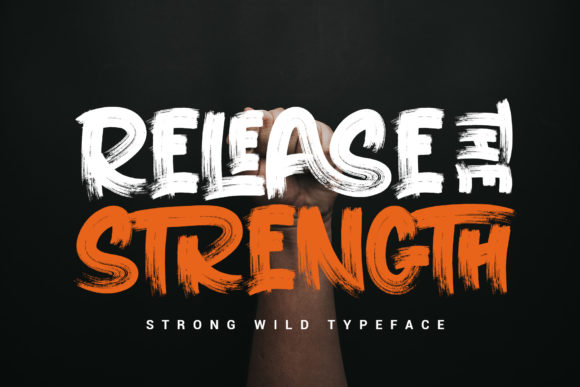 Download Free Release The Strength Font By Stefiejustprince Creative Fabrica SVG Cut Files