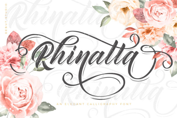 Print on Demand: Rhinatta Script & Handwritten Font By Debut Studio