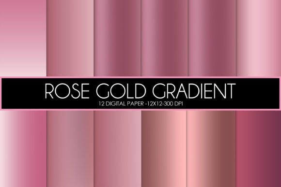 Print on Demand: Rose Gold Gradient Graphic Textures By thecreativestyle
