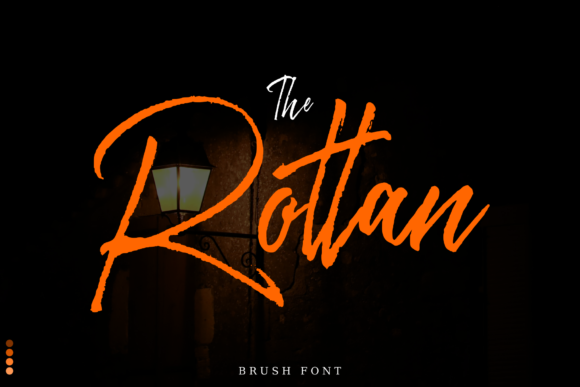 Print on Demand: Rottan Script & Handwritten Font By Fridaytype