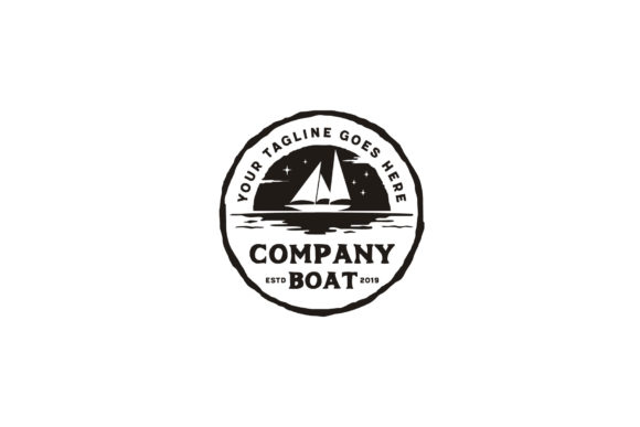 Download Free Sailing Boat Ship Silhouette Rustic Logo Graphic By Enola99d for Cricut Explore, Silhouette and other cutting machines.