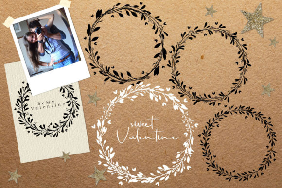 Simple Valentine Botanical Leaf Wreath S Graphic By 3motional