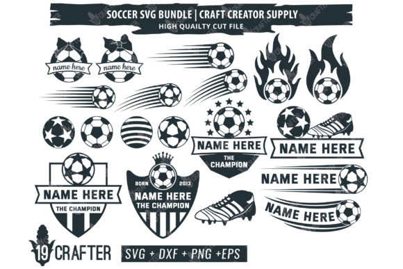 Download Free Soccer Ball Craft Creator Bundle Graphic By Great19 Creative for Cricut Explore, Silhouette and other cutting machines.