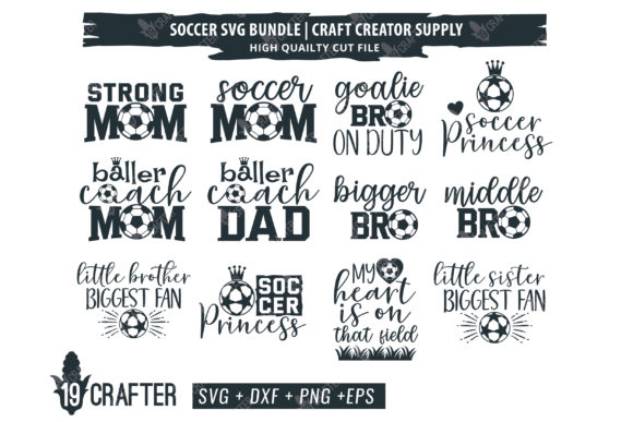 Print on Demand: Soccer Family Bundle Graphic Crafts By great19
