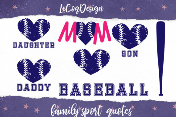 Sport Family Clipart, Baseball Mom Graphic Illustrations By LeCoqDesign - Image 4