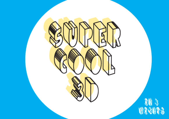 Print on Demand: Super Cool 3D Display Font By GraphicsBam Fonts