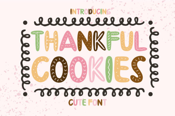 Print on Demand: Thankful Cookies Display Font By Caoca Studios - Image 1