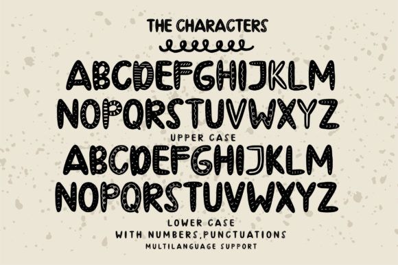 Print on Demand: Thankful Cookies Display Font By Caoca Studios - Image 3