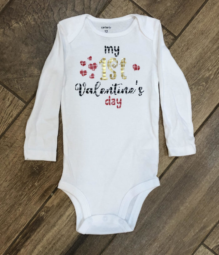 Download Free Create A Cute Baby Bodysuit For Valentine S Day Creative Fabrica for Cricut Explore, Silhouette and other cutting machines.