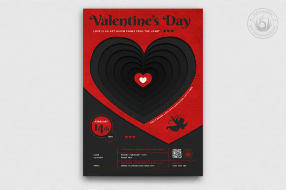 Valentines Day Flyer Template V23 Graphic Print Templates By ThatsDesignStore