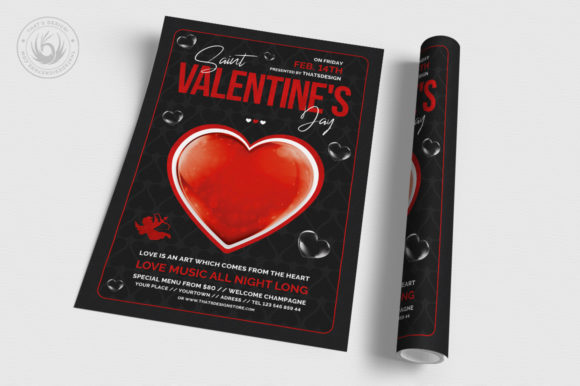 Valentines Day Flyer Template V24 Graphic Print Templates By ThatsDesignStore - Image 3