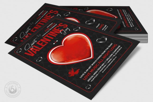 Valentines Day Flyer Template V24 Graphic Print Templates By ThatsDesignStore - Image 4