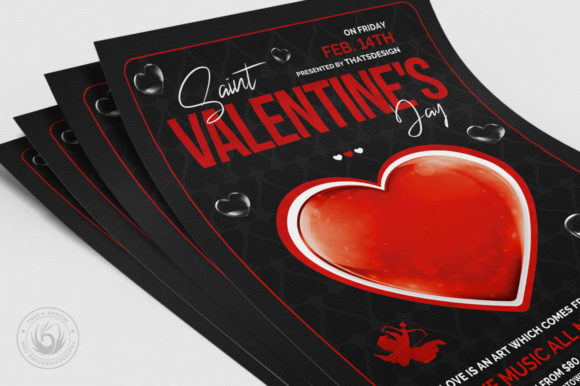 Valentines Day Flyer Template V24 Graphic Print Templates By ThatsDesignStore - Image 5