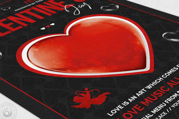 Valentines Day Flyer Template V24 Graphic Print Templates By ThatsDesignStore - Image 6
