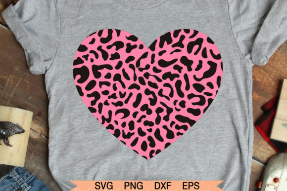 Download Free Valentines Day Leopard Heart Graphic By Roxysvg26 Creative for Cricut Explore, Silhouette and other cutting machines.