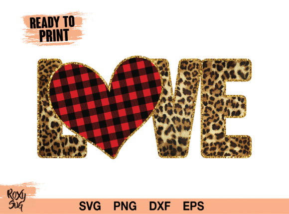 Print on Demand: Valentines Day, Love PNG, Heart Clipart Gráfico Crafts Por roxysvg26