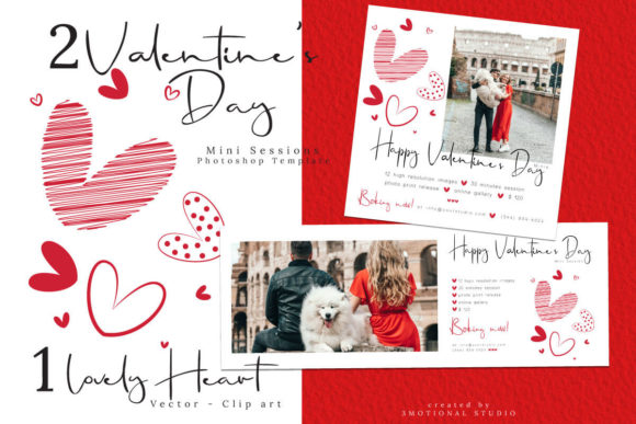 Print on Demand: Valentine's Day Marketing Template Graphic Product Mockups By 3Motional