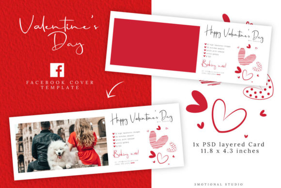 Download Free Valentine S Day Marketing Template Graphic By 3motional for Cricut Explore, Silhouette and other cutting machines.