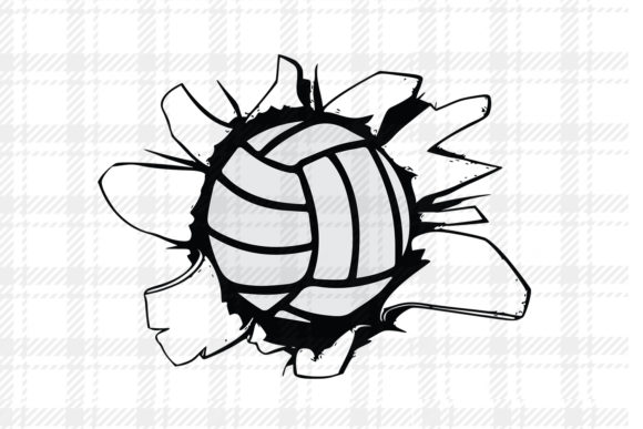 Print on Demand: Volleyball Design Vector Logo Graphic Graphic Templates By johanruartist