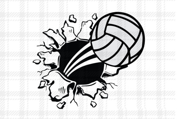 Download Free Volleyball Design Vector Logo Graphic By Johanruartist for Cricut Explore, Silhouette and other cutting machines.