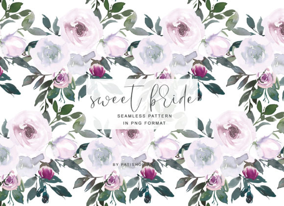 White Pink Watercolor Floral Clipart Set Graphic Illustrations By Patishop Art - Image 11