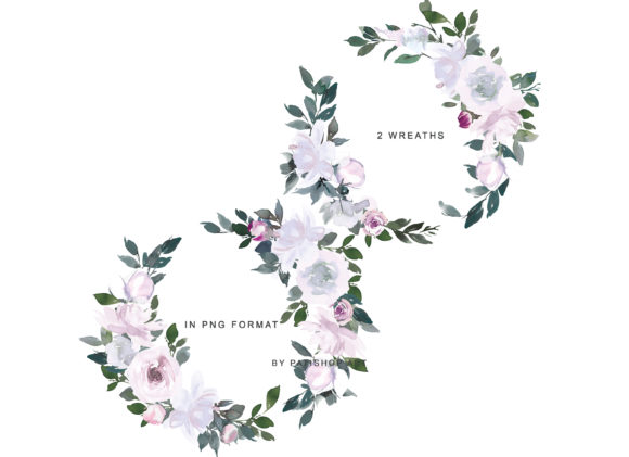 White Pink Watercolor Floral Clipart Set Graphic Illustrations By Patishop Art - Image 12
