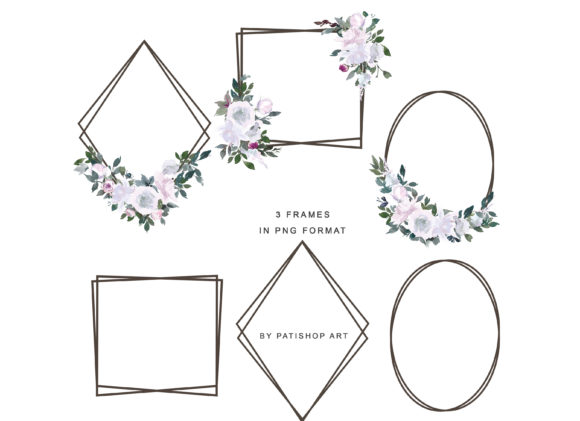 White Pink Watercolor Floral Clipart Set Graphic Illustrations By Patishop Art - Image 17
