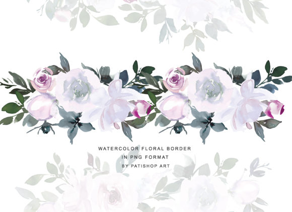 White Pink Watercolor Floral Clipart Set Graphic Illustrations By Patishop Art - Image 5