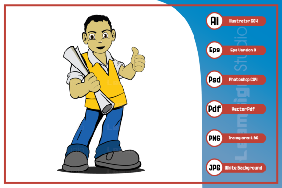 Print on Demand: Worker of Construction Company Design Graphic Icons By leamsign