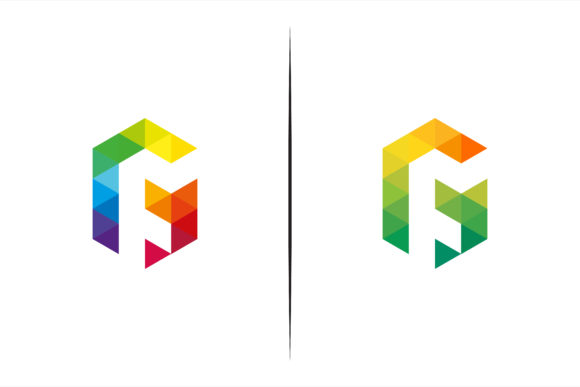 Print on Demand: Colorful Triangle Polygonal Logo Graphic Logos By noory.shopper