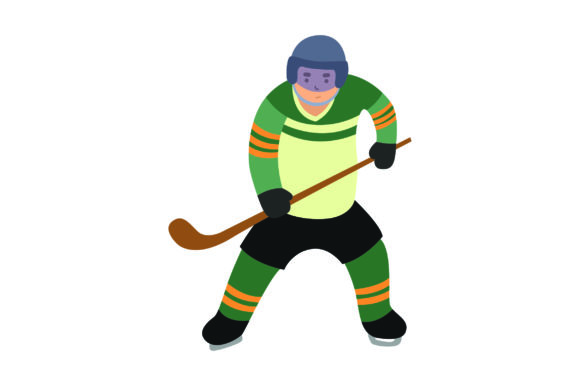 Ice Hockey Player Front View Sports Craft Cut File By Creative Fabrica Crafts
