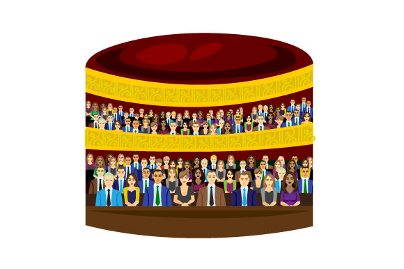 Theater Audience Svg Cut File By Creative Fabrica Crafts