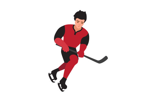 Ice Hockey Player Sports Craft Cut File By Creative Fabrica Crafts