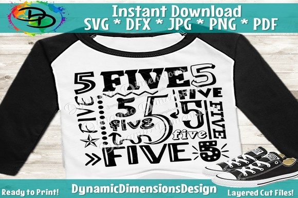 Print on Demand: 5th Birthday Collage Graphic Crafts By dynamicdimensions