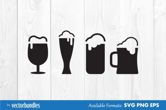 Download Free Beer Glass Clip Art Graphic By Vectorbundles Creative Fabrica SVG Cut Files