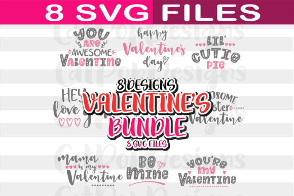 Download Free Big And Cute Valentine S Day Bundle Graphic By Catpopdesigns for Cricut Explore, Silhouette and other cutting machines.