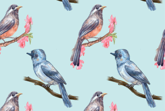 Print on Demand: Birds Song Pattern 1 Graphic Patterns By info.neilhubert
